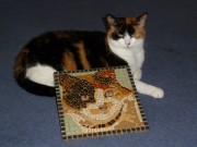Sophie Kitten with her mosaic!