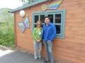 Rosanna and Log Cabin Manager Dan.