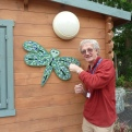 Alan putting up the Dragonfly