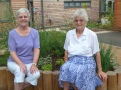 Nita and Gill taking a well earned rest