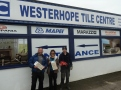 Westerhope Tiles in Northumberland got on board and donated a huge amount of tiles